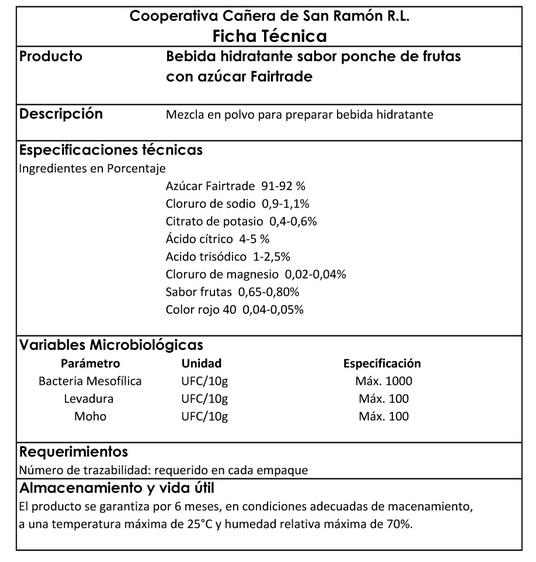 especificaciones tecnicas hidratante