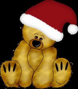 osito gorro navidad